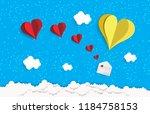 illustration of love and... | Shutterstock .eps vector #1184758153