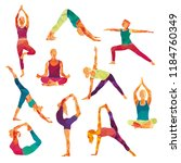 yoga colorful fitness concept.... | Shutterstock .eps vector #1184760349