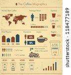 coffee infographics set | Shutterstock .eps vector #118477189