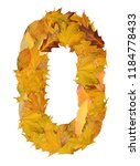 number from autumn leaves  | Shutterstock . vector #1184778433