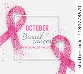 october  breast cancer... | Shutterstock .eps vector #1184778670