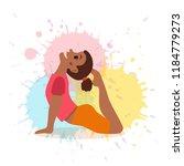 cute cartoon gymnastics for... | Shutterstock .eps vector #1184779273