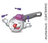 juggling pizza cutter knife...   Shutterstock .eps vector #1184784943