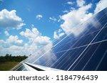 blue solar panels over blue sky....   Shutterstock . vector #1184796439