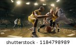basketball players on big... | Shutterstock . vector #1184798989