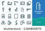 bathroom icons set. set of hand ... | Shutterstock .eps vector #1184800870