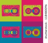 set of colored disco cassettes... | Shutterstock .eps vector #118480096