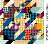 seamless geometric pattern.... | Shutterstock .eps vector #1184804020