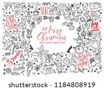 big set of christmas design... | Shutterstock . vector #1184808919