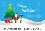 holiday card or christmas card... | Shutterstock .eps vector #1184811460