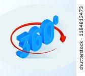360 degrees icon. 3d isometric... | Shutterstock .eps vector #1184813473
