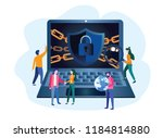 concept are internet  data... | Shutterstock .eps vector #1184814880