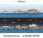 vector illustration of athens... | Shutterstock .eps vector #1184815090