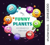 funny planets  astronomy for... | Shutterstock .eps vector #1184818300