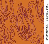 vector seamless floral pattern...   Shutterstock .eps vector #1184821453