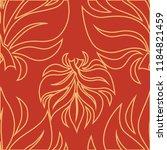 vector seamless floral pattern...   Shutterstock .eps vector #1184821459