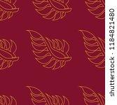 vector seamless floral pattern...   Shutterstock .eps vector #1184821480