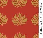 vector seamless floral pattern...   Shutterstock .eps vector #1184821486