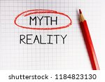 myth or reality dilemma in math ... | Shutterstock . vector #1184823130
