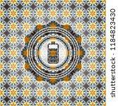 battery icon inside arabesque... | Shutterstock .eps vector #1184823430
