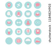 set of 20 vector icons  for... | Shutterstock .eps vector #1184824903