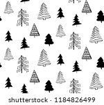 doodle hand drawn christmas... | Shutterstock .eps vector #1184826499