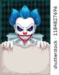creepy circus poster. scary... | Shutterstock .eps vector #1184827696