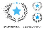 proud emblem icon in dispersed  ... | Shutterstock .eps vector #1184829490