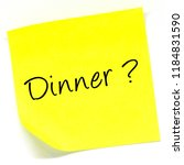 the word dinner  written on a... | Shutterstock . vector #1184831590
