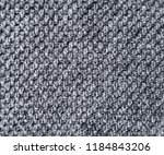 ozy  warm  knitted  furry gray ... | Shutterstock . vector #1184843206