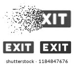 exit label icon in fragmented ...   Shutterstock .eps vector #1184847676
