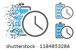 battery time icon in dissolved  ... | Shutterstock .eps vector #1184853286