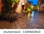 old european city pienza street ... | Shutterstock . vector #1184863810