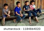 luang prabang laos march 29 ... | Shutterstock . vector #1184864020