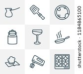 culinary icons line style set... | Shutterstock .eps vector #1184865100
