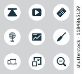 multimedia icons set with top ...   Shutterstock .eps vector #1184865139