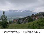view of the upper part of vaduz ... | Shutterstock . vector #1184867329