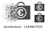 euro baggage icon in dispersed  ... | Shutterstock .eps vector #1184867920