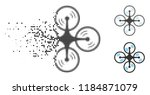 quadcopter screw rotation icon...   Shutterstock .eps vector #1184871079
