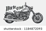 motorcycle sketch. hand drawn... | Shutterstock .eps vector #1184872093