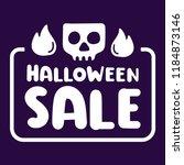 halloween sale. badge  stamp...   Shutterstock .eps vector #1184873146