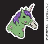 dead unicorn icon. vector... | Shutterstock .eps vector #1184876710