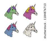 dead unicorn icon. vector... | Shutterstock .eps vector #1184876713
