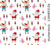 seamless vector pattern with... | Shutterstock .eps vector #1184893156