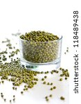 Small photo of Mung beans [ green gram or golden gram]