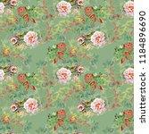 watercolor seamless pattern...   Shutterstock . vector #1184896690