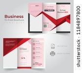 tri fold brochure design ... | Shutterstock .eps vector #1184897800