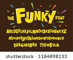 colorful stylized font and...   Shutterstock .eps vector #1184898133