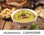 soupe de pois casse | Shutterstock . vector #1184900389