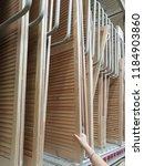 wooden screens for interior... | Shutterstock . vector #1184903860